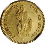 PERU. 2 Escudos, 1828/7-LIMA JM. Lima Mint. NGC EF-45.