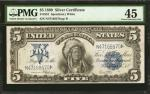 Fr. 281. 1899 $5 Silver Certificate. PMG Choice Extremely Fine 45.