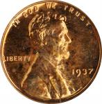 1937 Lincoln Cent. Proof-65 RD (NGC). OH.