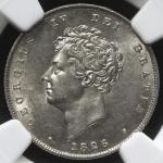 GREAT BRITAIN George IV ジョージ4世(1820~30) Shilling 1826  NGC-MS61 AU