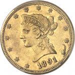 USA République fédérale des États-Unis d'Amérique (1776-à nos jours). 10 dollars Liberty 1891, CC, C