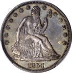 1864 Liberty Seated Half Dollar. Proof-63 (PCGS).