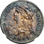 1815 Capped Bust Quarter. B-1, the only known dies. Rarity-1--E Counterstamp--MS-65 (NGC).