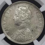 INDIA British India イギリス领インド Rupee 1889B NGC-MS60 AU