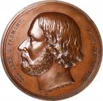 1856 John C. Freemont Medal. DeWitt-JF 1856-1. Bronzed Copper. 61.5 mm. Mint State.