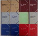 新西兰角分币一组12册,当中包括银币,包括:1940-1966年半便士(2册)1940-1966年一便士(2册)1933-1966年三便士(2册)1933-1966年六便士(2册)1933-1966年