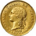 COLOMBIA. 20 Pesos, 1868/49-POPAYAN. Popayan Mint. NGC MS-62.