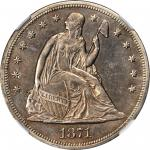 1871-CC Liberty Seated Silver Dollar. AU-55 (NGC).