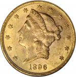 1896 Liberty Head Double Eagle. MS-62 (NGC).
