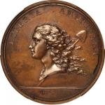 1781 (April 1783) Libertas Americana Medal. Original. Bronze. 47.8 mm. By Augustin Dupre. Betts-615.