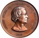 1865 Andrew Johnson Indian Peace Medals. Medium Size. Bronze. 63 mm. Julian IP-41. MS-63 BN (NGC).