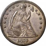 1870-CC Liberty Seated Silver Dollar. OC-2. Rarity-5. AU-58 (PCGS). CAC.