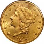 1892-CC Liberty Head Double Eagle. MS-61 (NGC).
