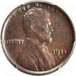1911-D Lincoln Cent. MS-63 BN (PCGS).