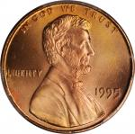 1995 Lincoln Cent. FS-101. Doubled Die Obverse. MS-69 RD (PCGS).