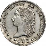 COLOMBIA. 1869 Peso. Medellín mint. Restrepo 318.1. Genuine (PCGS).