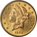 1884-S Liberty Head Double Eagle. MS-63+ (PCGS). CAC.