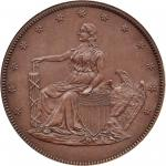 1859 Pattern Double Eagle. Judd-257, Pollock-305. Rarity-6+. Copper. Reeded Edge. Proof-65 BN (PCGS)