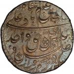 AWADH: Wajid Ali Shah, 1847-1858, AR rupee, Lucknow, AH1269 year 6, KM-365。3, lovely toning, lustrou