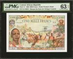 CENTRAL AFRICAN REPUBLIC. Banque des Etats de lAfrique Centrale. 5000 Francs, 1980. P-11. PMG Choice