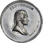 "(C. 1872) Muling of J.A. Bolen's Jefferson die and ""10"" reverse. Tin. 25mm. Musante Unlisted (JAB K-"