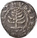 1652 Pine Tree Shilling. Small Planchet. Noe-29, Salmon 11-F, W-930. Rarity-3--Flip Over Double Stru