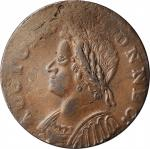 1786 Connecticut Copper. Miller 5.8-F, W-2620. Rarity-5. Mailed Bust Left. AU-55 (PCGS).