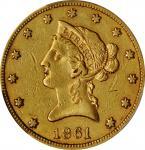 1861 Liberty Head Eagle. EF-45 (PCGS).