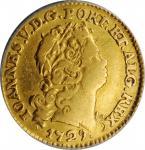 PORTUGAL. 1/2 Escudo, 1729. Lisbon Mint. Joao V. ANACS EF-40.