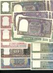 Reserve Bank of India, a varied selection of the more modern issues comprising Geoege VI 1 rupee (3)