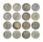 14543   民国 1934年 中华民国二十三年孙中山像帆船壹圆银币一组八枚,美品-上美品