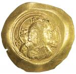 BYZANTINE EMPIRE: Michael VII Doukas, 1071-1078, AV histamenon (4.41g), S-1868, bust of Christ // em