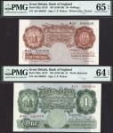 Bank of England, Cyril Patrick Mahon (1925-1929), a parchment pair comprising 10/- and £1, ND (22 No