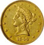 1844-O Liberty Head Eagle. AU-55 (PCGS).