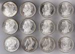 BU Roll of 1882-S Morgan Silver Dollars.