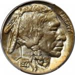1927-S Buffalo Nickel. MS-65+ (PCGS).