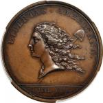 1781 (1782) Libertas Americana Medal. Original. Bronze. By Augustin Dupre. Betts-615. MS-63 BN (PCGS