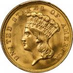 1854 Three-Dollar Gold Piece. MS-65 (PCGS).