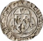 FRANCE. Blanc a la Couronne, ND (1461-83). Bourges Mint. Louis XI. NGC MS-62.