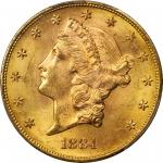 1884-S Liberty Head Double Eagle. MS-63 (PCGS).