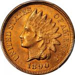 1890 Indian Cent. MS-66 RD (PCGS).