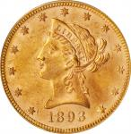 1893 Liberty Head Eagle. MS-62 (PCGS). CAC. OGH.