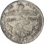COLOMBIA.1842/1-RS 8 Reales. Bogotá mint. Restrepo 194.6. AU-58 (PCGS).