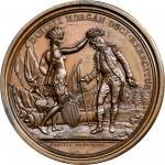 1781 Daniel Morgan at Cowpens medal. Betts-593. Copper. Original. Paris Mint. 56.1 mm, 1069.8 grains