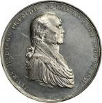 1817 James Madison Presidential Medal. White Metal. 63.9 mm. By Moritz Furst. Julian PR-3, Neuzil-43
