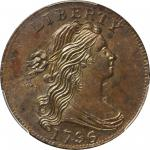1796 Draped Bust Cent. S-93. Rarity-3. Reverse of 1795. MS-63+ BN (PCGS).