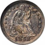 1848 Liberty Seated Half Dime. Large Date. MS-63 (NGC). OH.