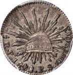 MEXICO. 1/2 Real, 1842/1-Pi PS. San Luis Potosi Mint. PCGS AU-58 Gold Shield.