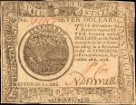 CC-80. Continental Currency. September 26, 1778. $7. About Uncirculated.