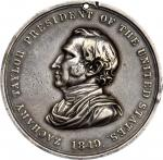 1849 Zachary Taylor Indian Peace Medal. Silver. Second Size. 62.33 mm. 1,675.3 grains. Julian IP-28,